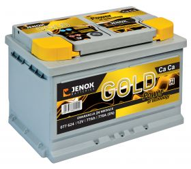 Акумулатор JENOX 12V 77Ah/770A GOLD Maintenance Free